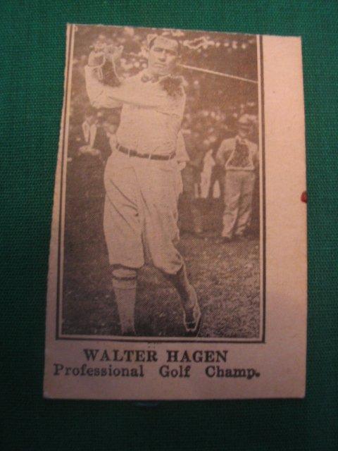 """1004: Walter Hagen Scarce """"W"""" Card c. 1920's"""