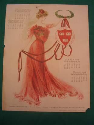 Harvard University 1902 Maude Stumm Calendar