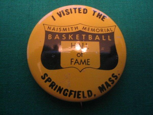 1009: Vintage Basketball Hall Of Fame Pin c. 1940's