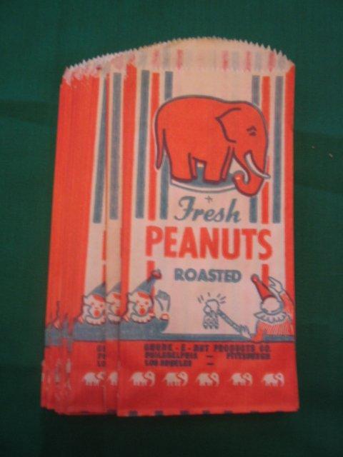 1010: (25) Orig. Connie Mack Stadium Peanut Bags