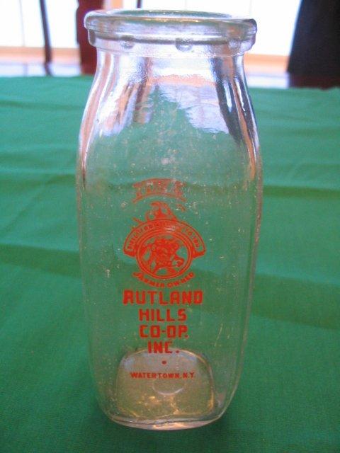 1013: Baseball Player 1920's Half Pint Milk Bottle