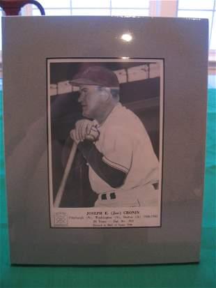 Joe Cronin Hall of Fame, Vintage Matted Card