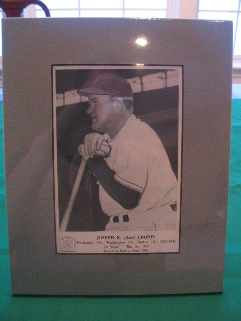 1015: Joe Cronin Hall of Fame, Vintage Matted Card