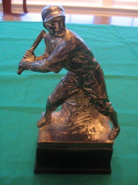 1016: Vintage Original Baseball Batter Trophy  c.1920's
