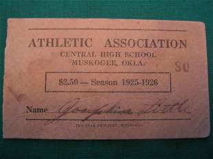 A. G. Spalding Athletic Assoc. Season Ticket Cove