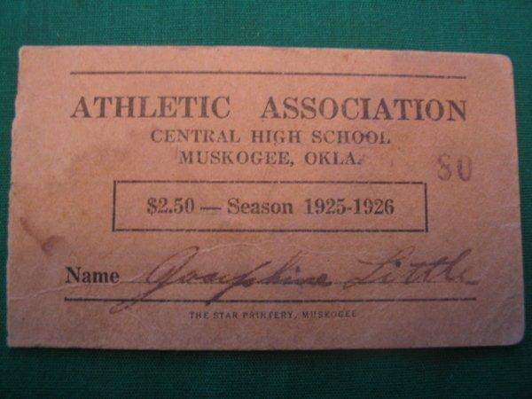 1019: A. G. Spalding Athletic Assoc. Season Ticket Cove