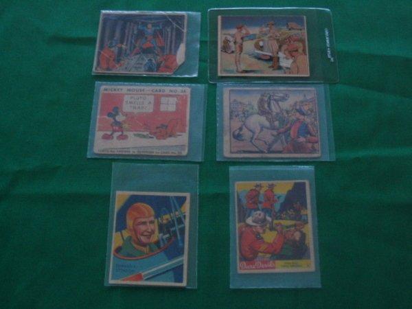 1020: (6) Vintage Non-Sport Cards c. 1930–1945