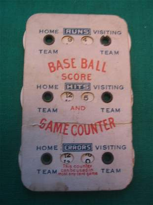Base Ball Score and Game Counter c. 1910
