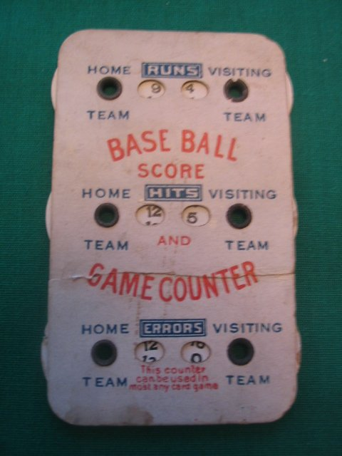 1021: Base Ball Score and Game Counter c. 1910