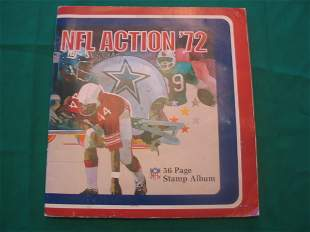 """1972 """"NFL Action '72"""" 56 Page Stamp Album"""
