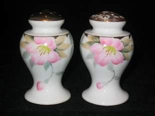 Noritake Azalea Boulbous Salt & Pepper Shakers 2-