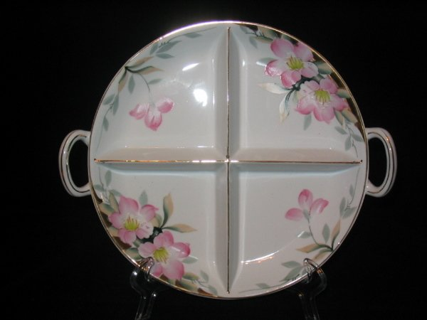 5008: Noritake Azalea Four Way Divided Relish Dish