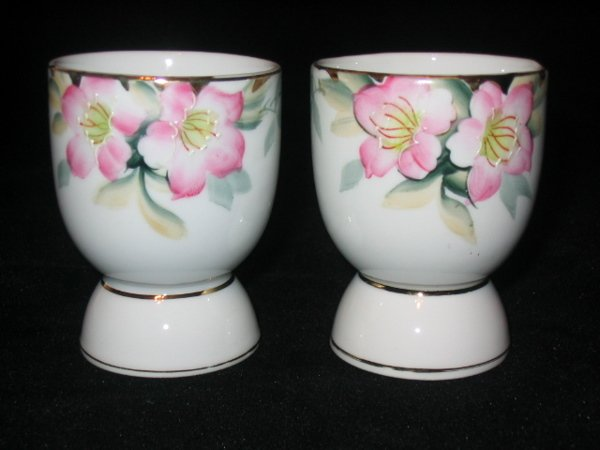 5012: Noritake Azalea Pair of Egg Cups 3in.