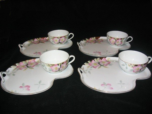 5017: (4) Noritake Azalea Refreshment Sets