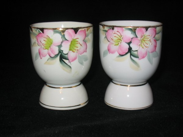 5018: Pair of Noritake Azalea Egg Cups 3""