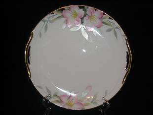 "Noritake Azalea Cake Plate Handled 9-3/4"" Diam."