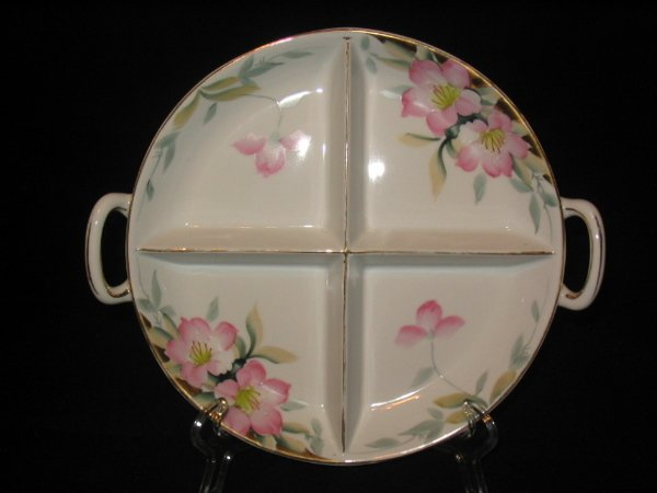 5021: Noritake Azalea Relish Dish Four Way Divided RARE