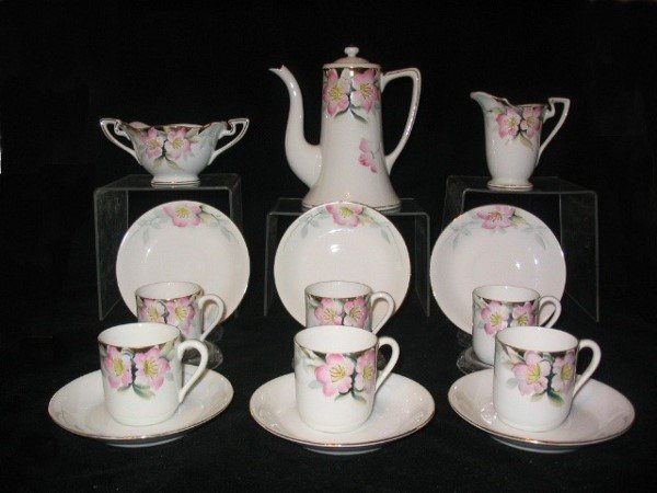 5095: Noritake Azalea After Dinner Coffee Set for Six R