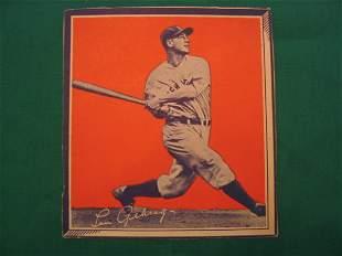 Lou Gehrig New York Yankees Wheaties Baseball Card