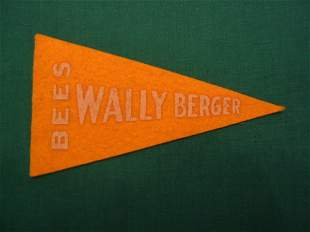Wally Berger Vintage Yellow Pennant Issue c. 1930's