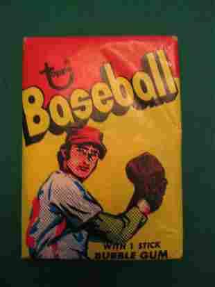 1973 Topps Baseball Unopened Wax Pack