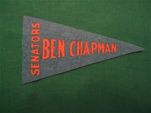 Ben Chapman Vintage Blue/Orange Pennant Issue c1930
