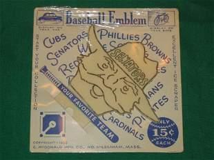Washington Senators 1952 Baseball Emblem Ice Scrape