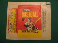 """250: Vintage 1960's Topps 5 Cent Baseball Pack """"Wrapper"""