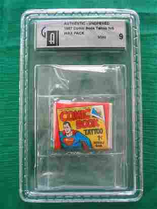 1967 Superman Comic Book Tattoo