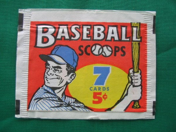 1004: 1961 Baseball Scoops Vintage 5 Cent Wrapper