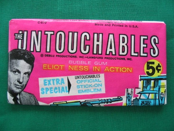 1006: The Untouchables 1962 Unopened 5 Cent Pack