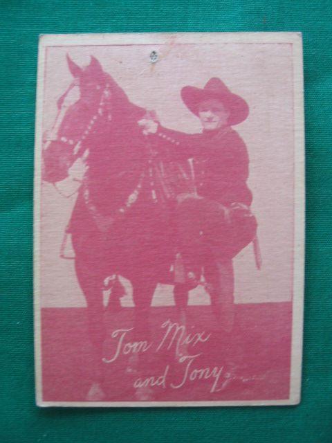 Tom Mix & Tony 1920's (W517) Western Card
