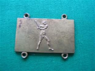 1936 Baseball Charm/Pendant w/ Baseball Batter