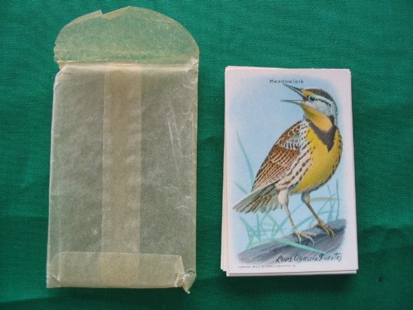 1010: Useful Birds of America Baking Soda Cards c. 1920