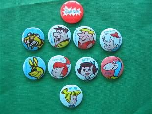 Fred Flintstone 1969 Complete Blue Pin Set