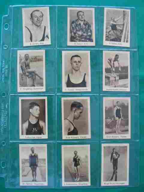 (12) International Sports Records Cards c. 1930's