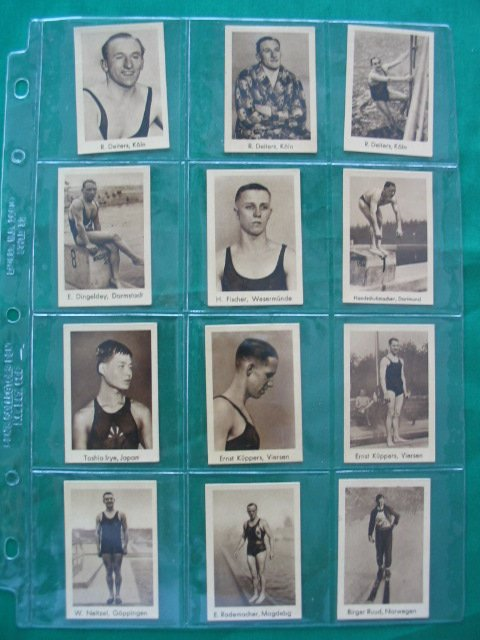 1012: (12) International Sports Records Cards c. 1930's