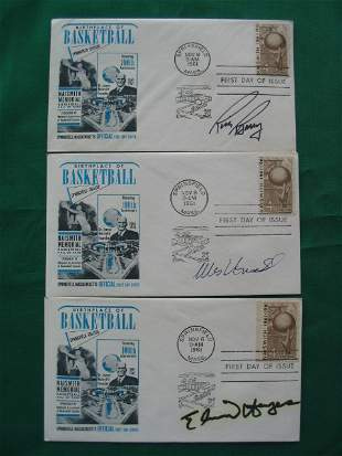 1961 Basketball HOF First Day of Issue Autograph