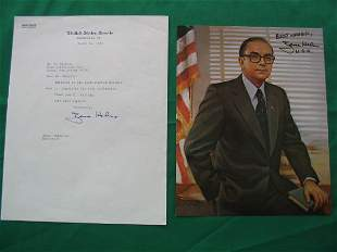 Senator Jesse Helms Autographed Color Photo