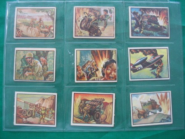 1018: Freedom's War Card Grouping of (9) c. 1951