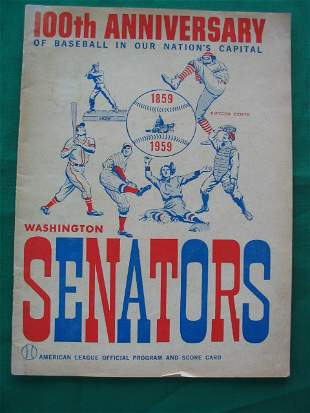 Washington Senators 100th Anv Official Program 19