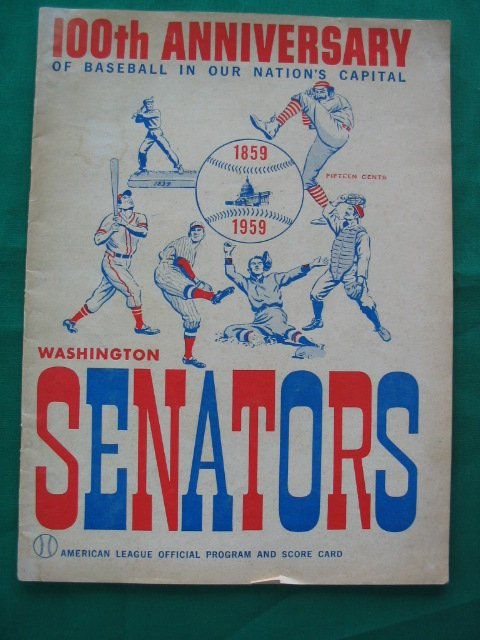 1019: Washington Senators 100th Anv Official Program 19
