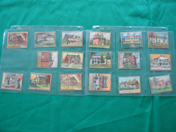 1022: (17) Historic Homes Series Helmar Tobacco Card