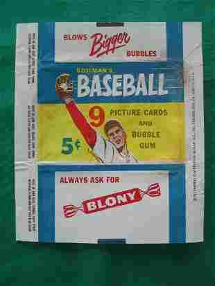 1955 Bowman Gum Baseball Card Wrapper