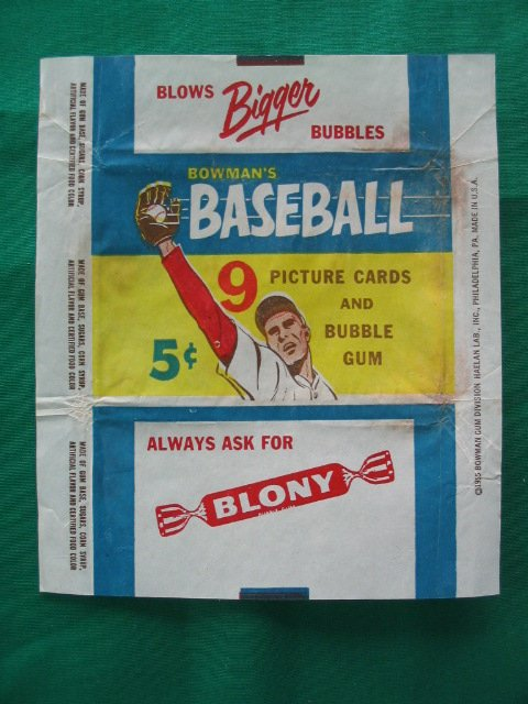 1024: 1955 Bowman Gum Baseball Card Wrapper