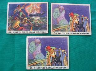 Pirates Picture Bubble Card Grouping of (3) c. 19