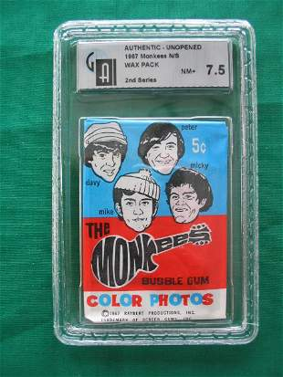 Authentic Unopened 1967 Monkees Wax Pack