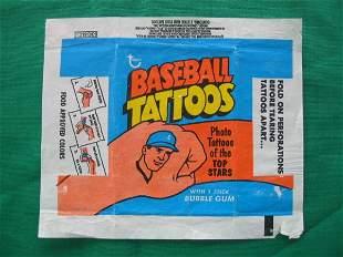 Topps Baseball Tattoos Vintage Card Wrapper