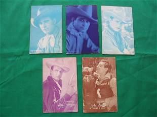 (5) 1920's Cowboy Western Exhibit Cards