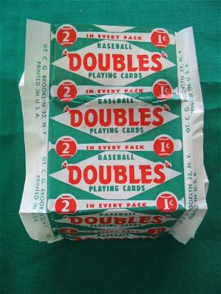1951 Topps Red Back Baseball Pack WRAPPERS